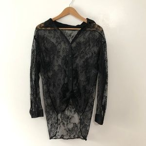 FREE/ lace layering top